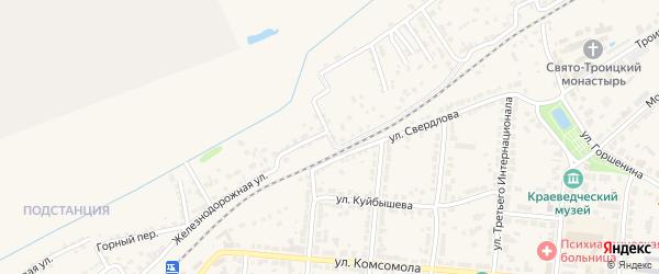Железнодорожная улица на карте Алатыря с номерами домов