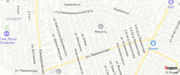 Улица Магомедова на карте Хасавюрта с номерами домов