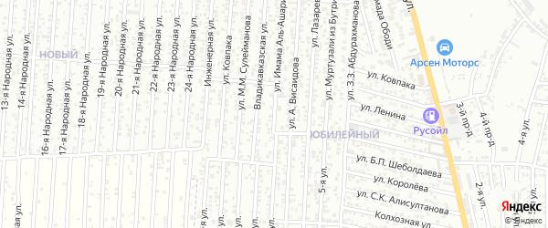 Улица Имама Аль-Пашари на карте Хасавюрта с номерами домов