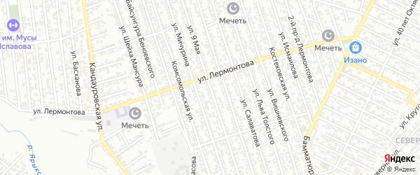 9 Мая улица на карте Хасавюрта с номерами домов