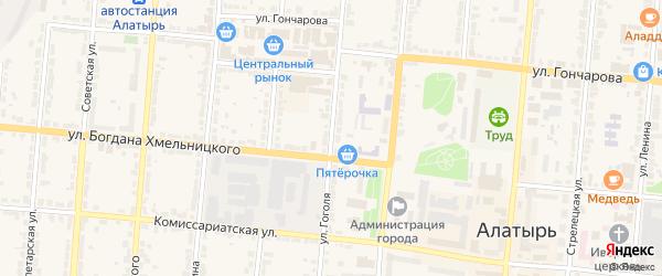 Улица Гоголя на карте Алатыря с номерами домов