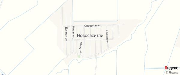 Карта села Новососитли в Дагестане с улицами и номерами домов