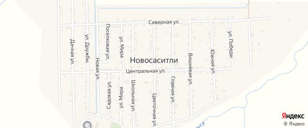Цветочная улица на карте села Новососитли с номерами домов