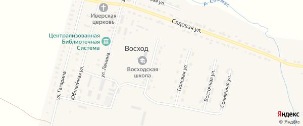 Школьная улица на карте поселка Восхода с номерами домов