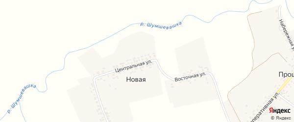 Восточная улица на карте Новой деревни с номерами домов