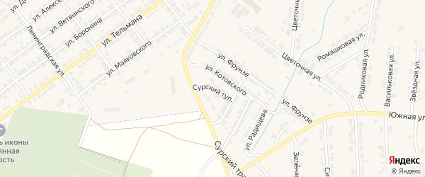 Сурский тупик на карте Алатыря с номерами домов