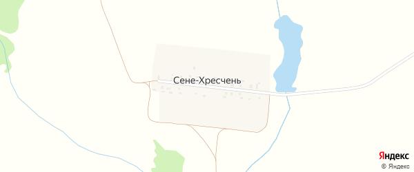 Садовая улица на карте деревни Сене-Хресчени с номерами домов