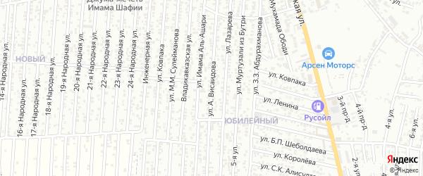 Улица Висаидова А. на карте Юбилейного микрорайона с номерами домов