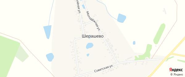 Советская улица на карте деревни Шерашево с номерами домов