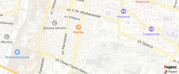 Кирпичный переулок на карте Хасавюрта с номерами домов