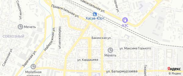 Бакинская улица на карте Хасавюрта с номерами домов