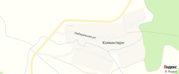Набережная улица на карте поселка Коминтерна с номерами домов