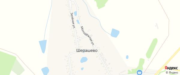 Молодежная улица на карте деревни Шерашево с номерами домов