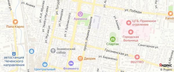 Пролетарская улица на карте Хасавюрта с номерами домов