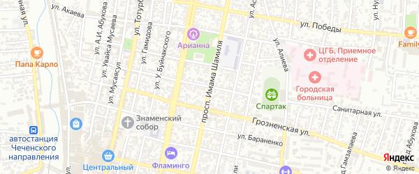 Улица Шамиля Умаханова на карте Хасавюрта с номерами домов