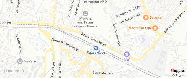 Завокзальная улица на карте Хасавюрта с номерами домов