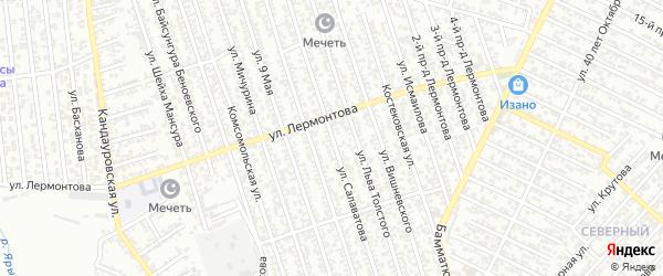 Улица Салаватова на карте Хасавюрта с номерами домов
