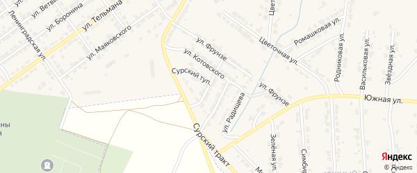 Улица Фурманова на карте Алатыря с номерами домов