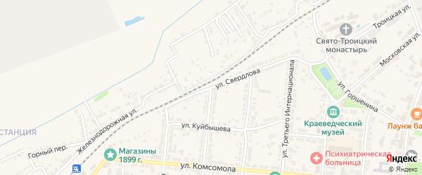 Улица Свердлова на карте Алатыря с номерами домов
