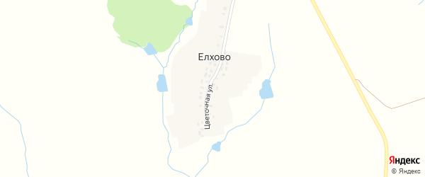 Цветочная улица на карте деревни Елхово с номерами домов