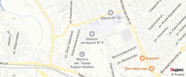 Виноградная улица на карте Хасавюрта с номерами домов