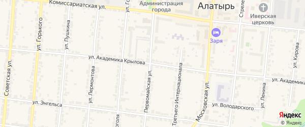 Улица Крылова на карте Алатыря с номерами домов