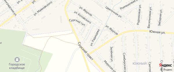 Улица Пархоменко на карте Алатыря с номерами домов