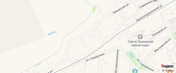 Старый переулок на карте Алатыря с номерами домов