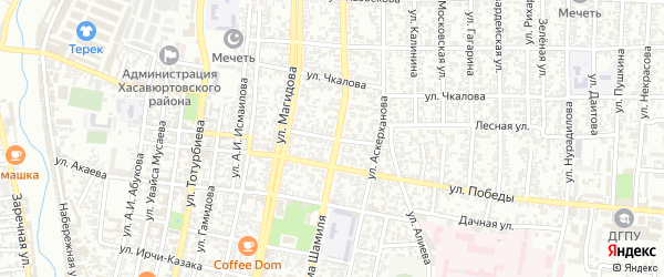 Ростовская улица на карте Хасавюрта с номерами домов