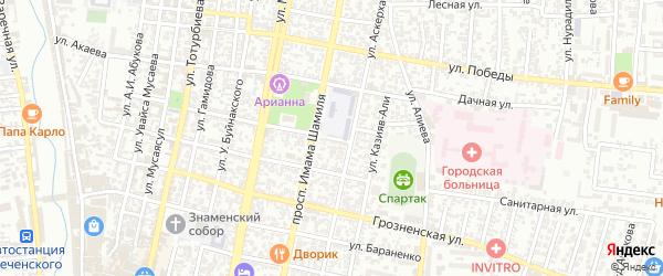 Улица Имама Наваи на карте Хасавюрта с номерами домов