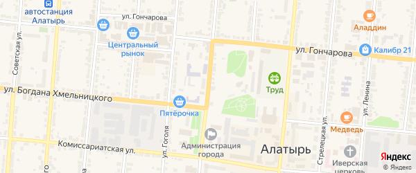 Первомайская улица на карте Алатыря с номерами домов