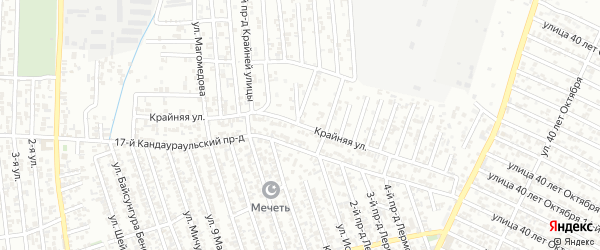 Крайняя улица на карте Хасавюрта с номерами домов