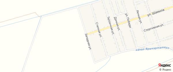 Западная улица на карте села Сивуха с номерами домов