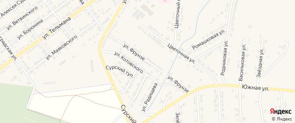 Улица Фрунзе на карте Алатыря с номерами домов