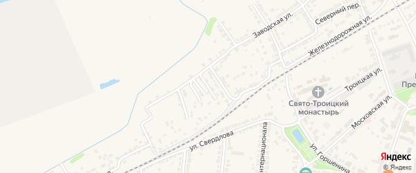 2-й Луговой переулок на карте Алатыря с номерами домов