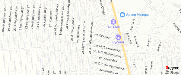 Улица Абдурахманова З.З. на карте Юбилейного микрорайона с номерами домов