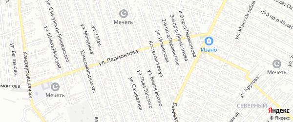 Улица Вишневского на карте Хасавюрта с номерами домов