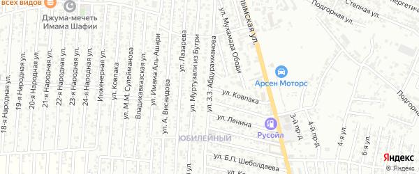 Улица Ковпака на карте Юбилейного микрорайона с номерами домов