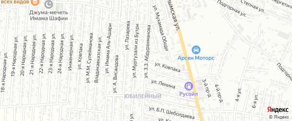 Улица Ковпака на карте Хасавюрта с номерами домов
