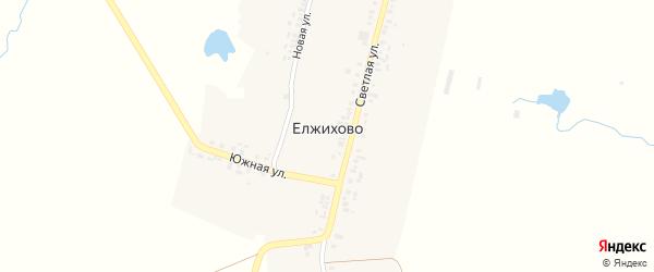 Новая улица на карте деревни Елжихово с номерами домов