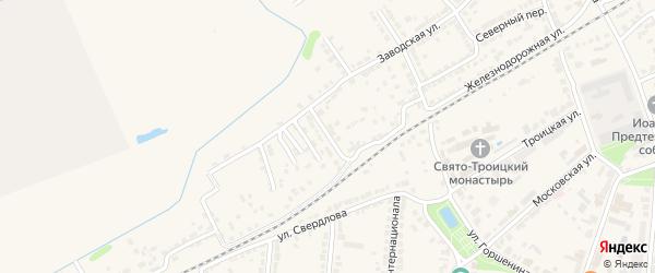 1-й Луговой переулок на карте Алатыря с номерами домов