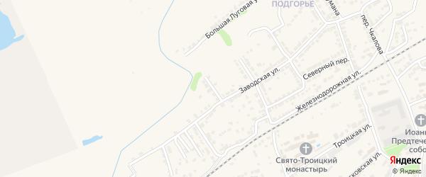 Гражданский переулок на карте Алатыря с номерами домов