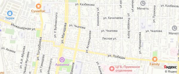 Дагестанская улица на карте Северного поселка с номерами домов