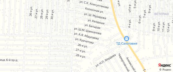 Улица Абдулаева А.Я. на карте Хасавюрта с номерами домов