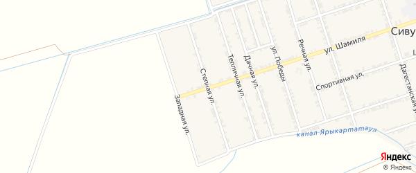 Степная улица на карте села Сивуха с номерами домов
