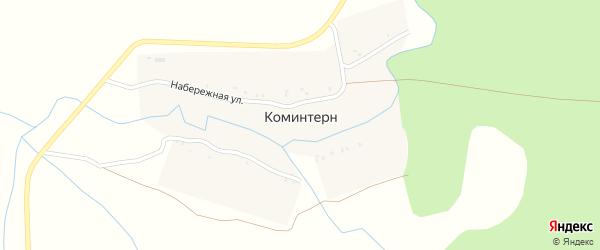 Лесная улица на карте поселка Коминтерна с номерами домов