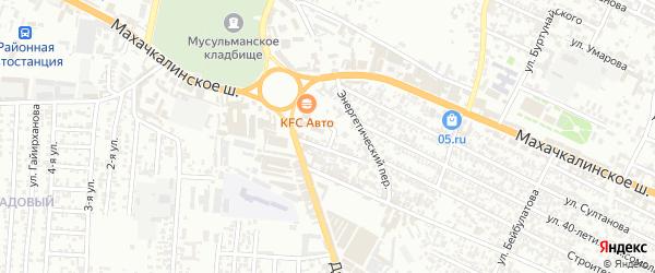 Кольцевая улица на карте села Вициятли с номерами домов