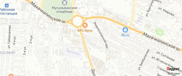 Энергетический переулок на карте Хасавюрта с номерами домов