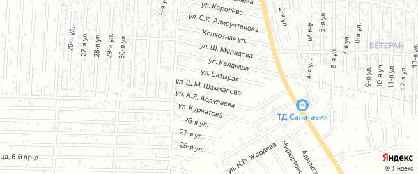 23-я улица на карте Нового поселка с номерами домов