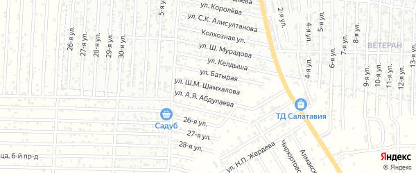 Улица Шамхалова Ш.М. на карте Нового поселка с номерами домов